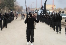 A group of fighters of the Islamic State