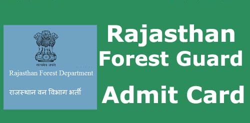 Rajasthan-Forest-Guard-admit-card