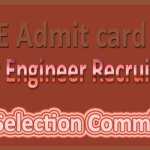 SSC Junior Engineer Admit Card 2015 Download Now