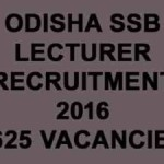 SSB Odisha Lecturer Recruitment 2016: Apply For 1625 Vacancies Here