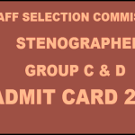 SSC Steno Admit Card 2015 Released: Download Stenographer (CR and NER) Admit Card Here