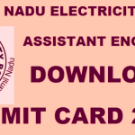 TNEB AE Admit Card 2016 Released Download Assistant Engineer Admit Card