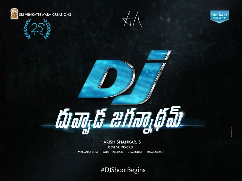 Dhuvvada Jagannadham First Look Poster